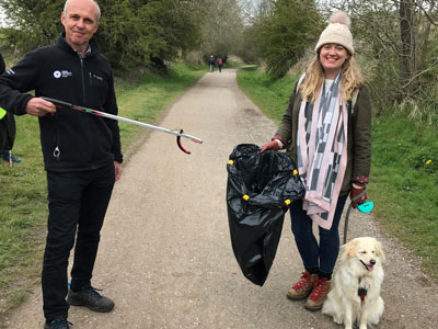 Andrew McCloy litter picking with the Peak District National Park Foundation