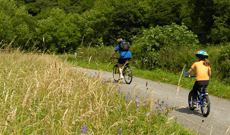 Walk or cycle on one of our famous trails