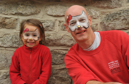 "Acting Head of Field Services Andy Farmer says ""Age is no barrier to face-painting fun!"""