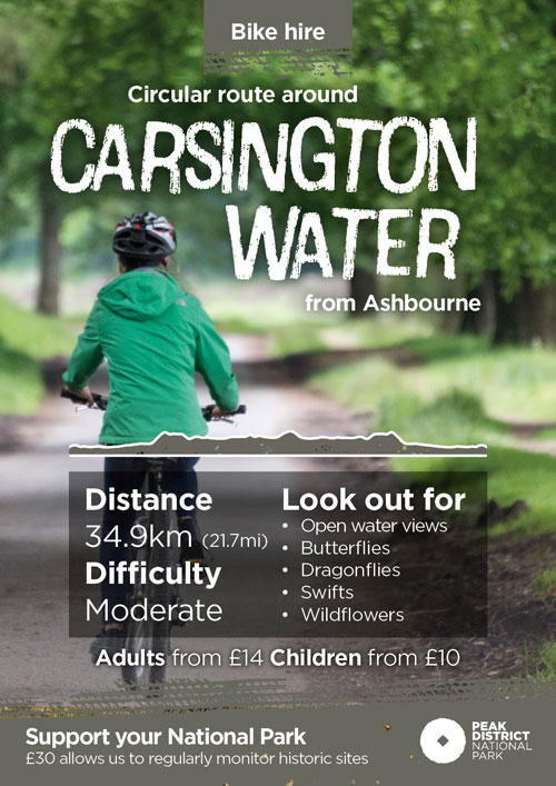 Carsington Water cycling route