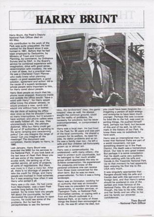 Harry Brunt obituary