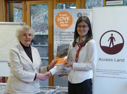 Peak District National Park chief executive Sarah Fowler (right) with Ann Diver from Clarion Ramblers