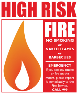 Fire risk sign