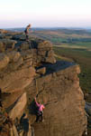 Climbing on Stanage
