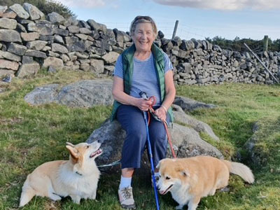 Dianne Jeffrey with her dogs