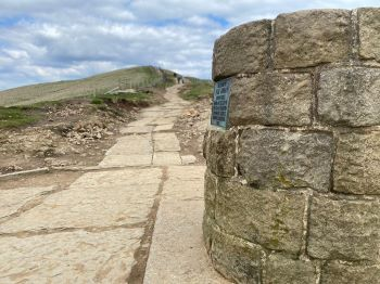 Restored footpath the Great Ridge