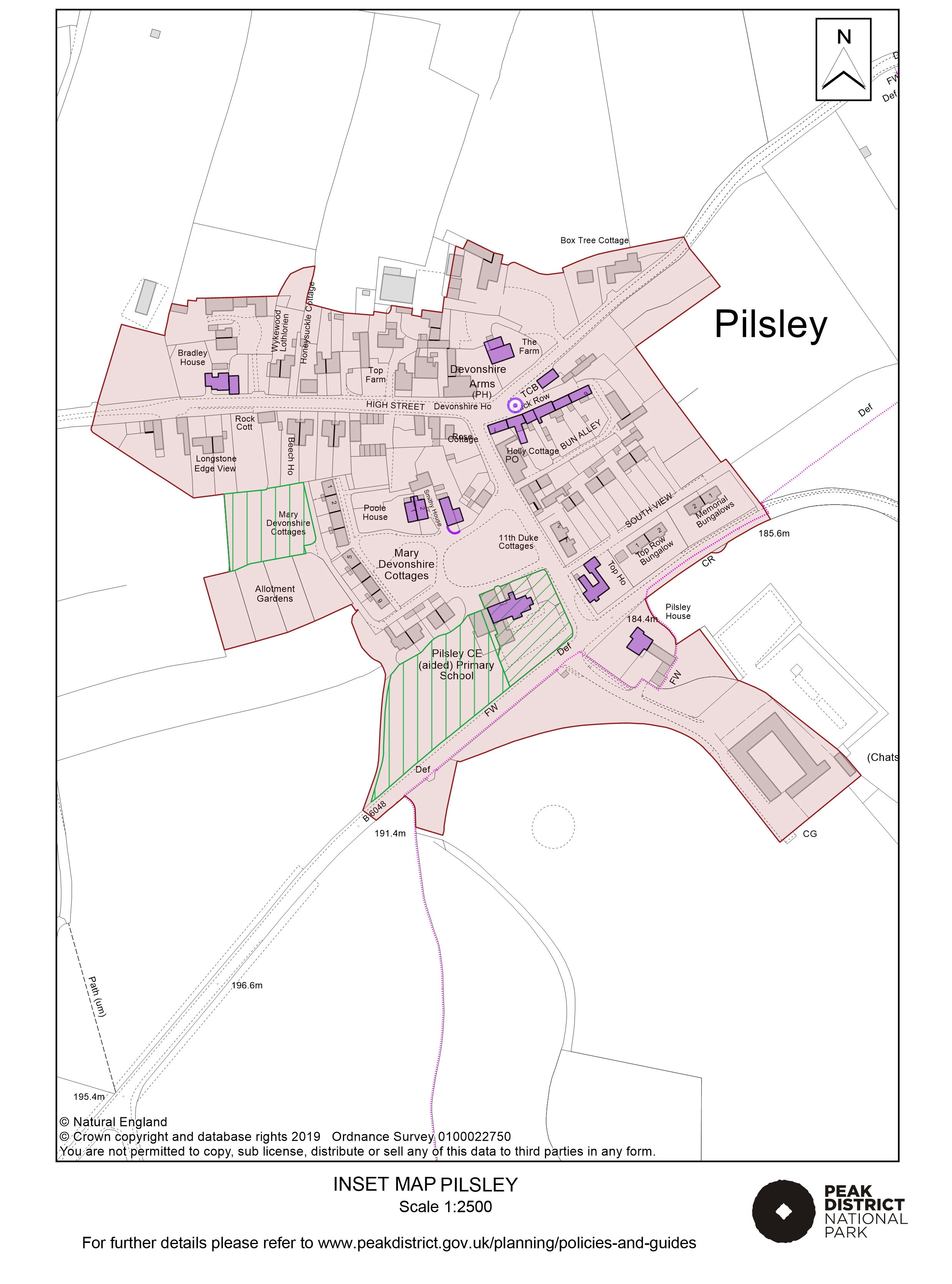 Local Plan Proposals Map: Pilsley