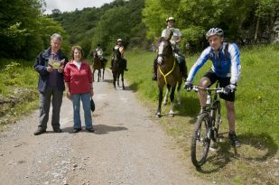 Walkers, cyclists and horse riders on the Black Harry trail