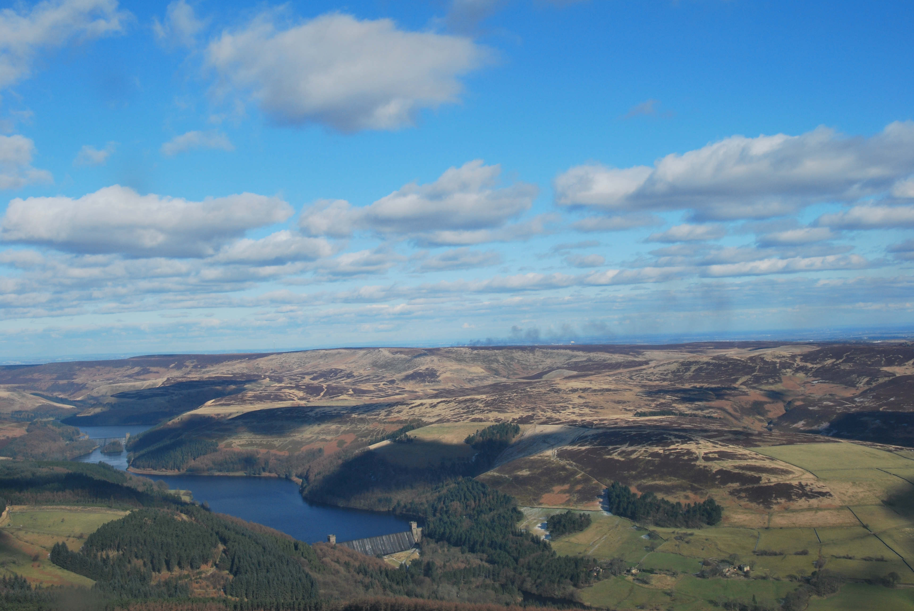 Moors about Ladybower reservoir