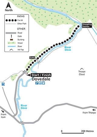 Dovedale routemap