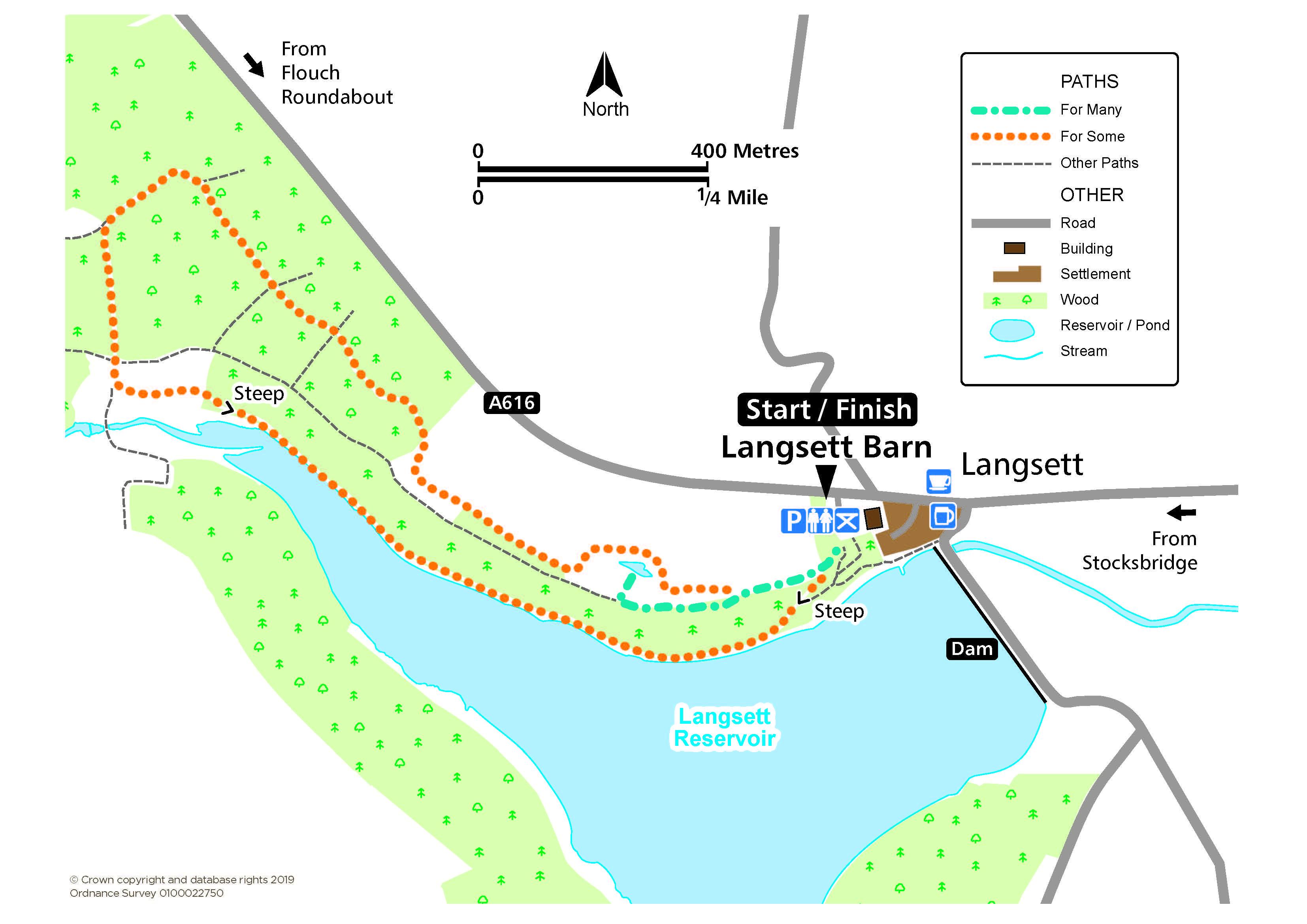 Langsett route