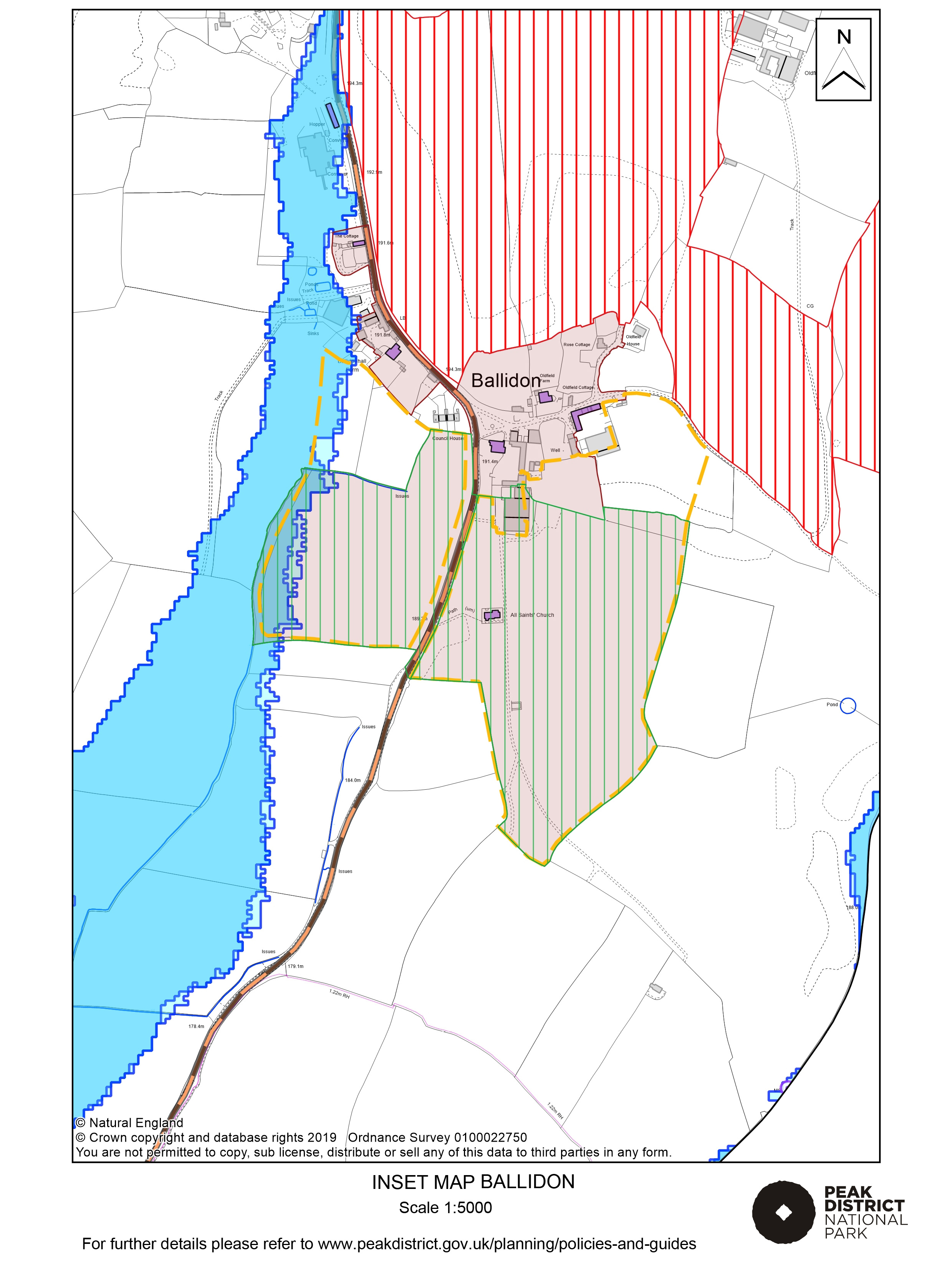 Local Plan Proposals Map: Ballidon