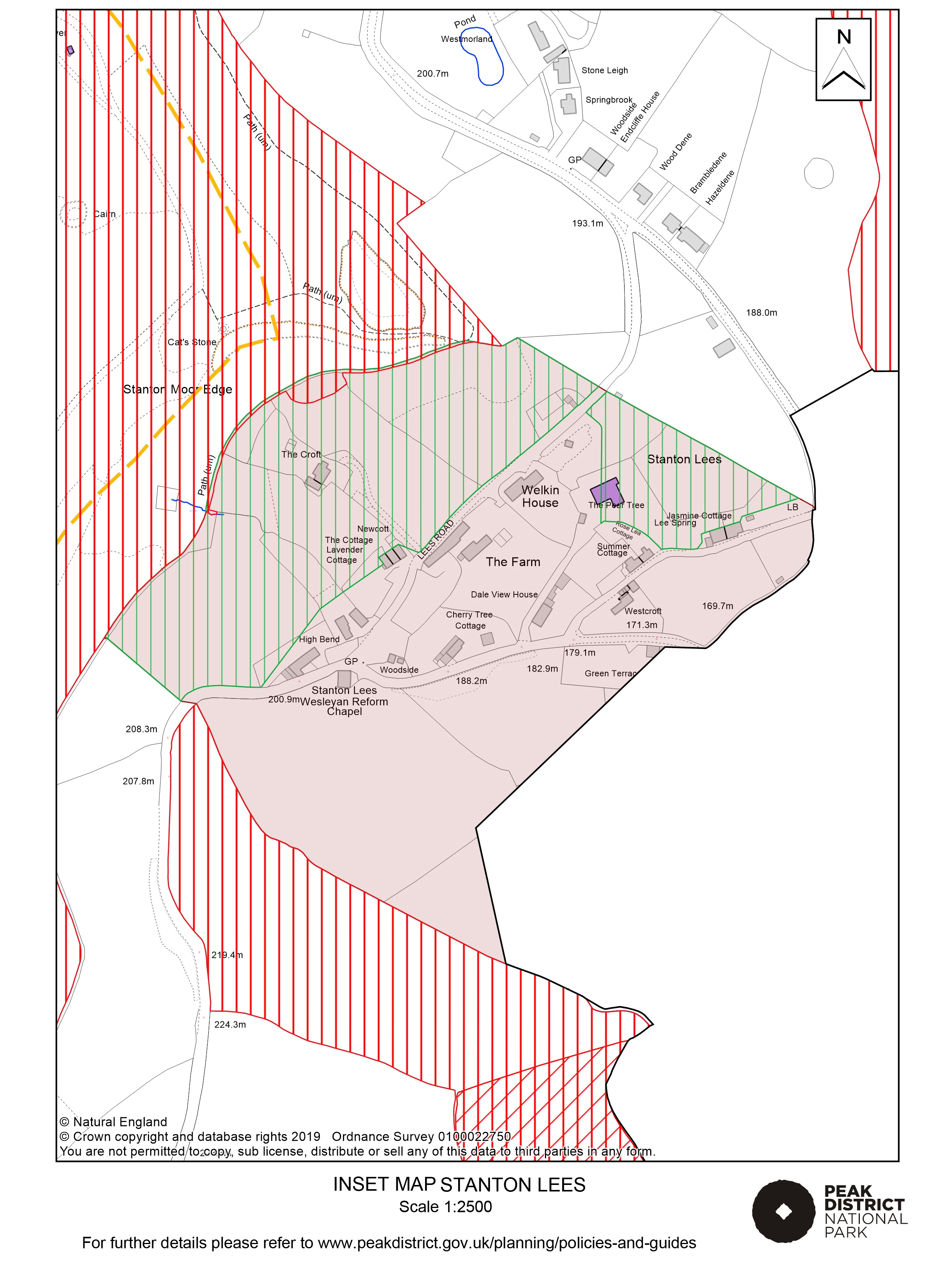 Local Plan Proposals Map: Stanton Lees