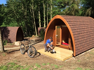 Camping pod at Stanage campsite