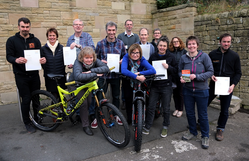 Welcoming Cyclists businesses received certificates