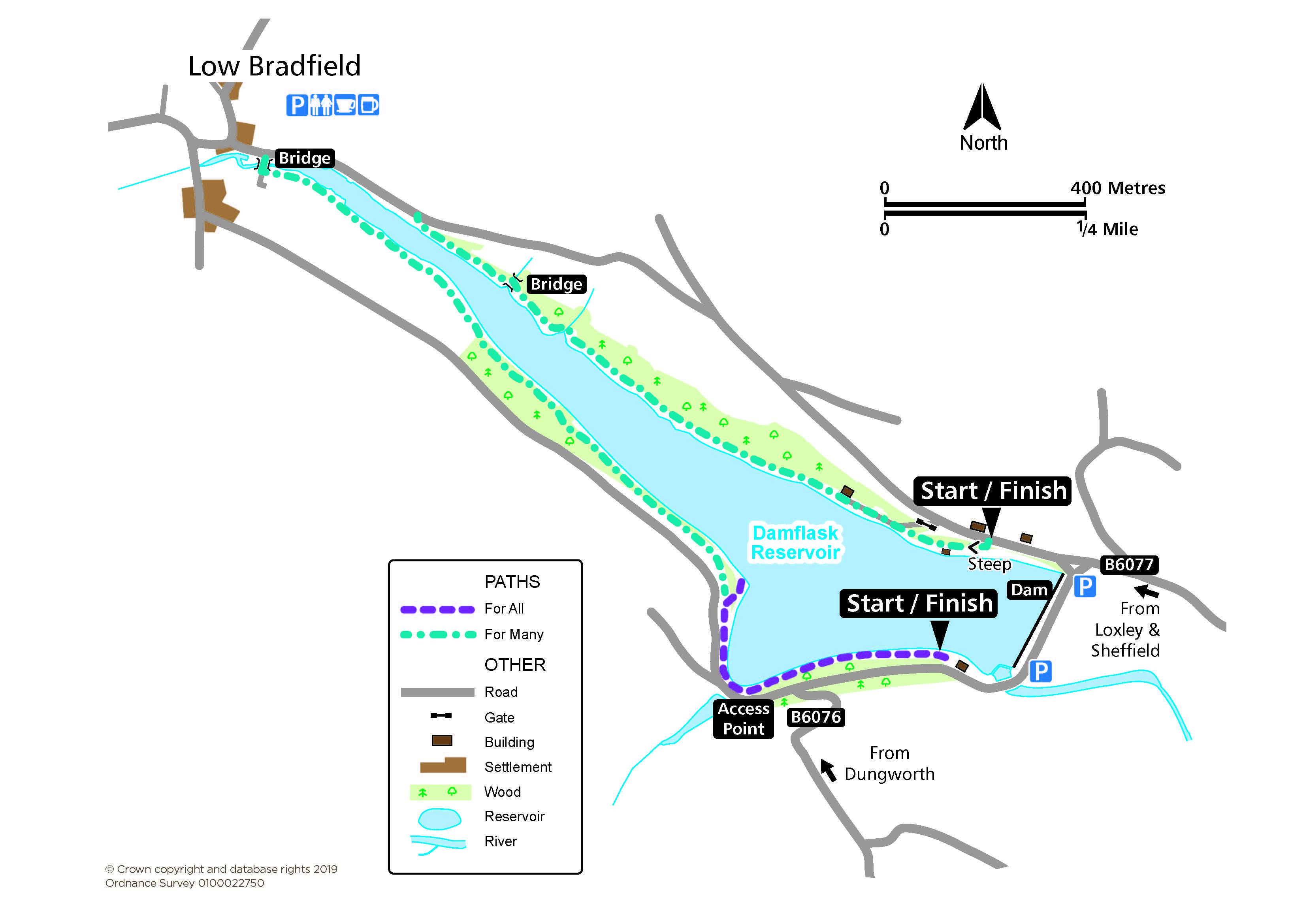 Damflask route