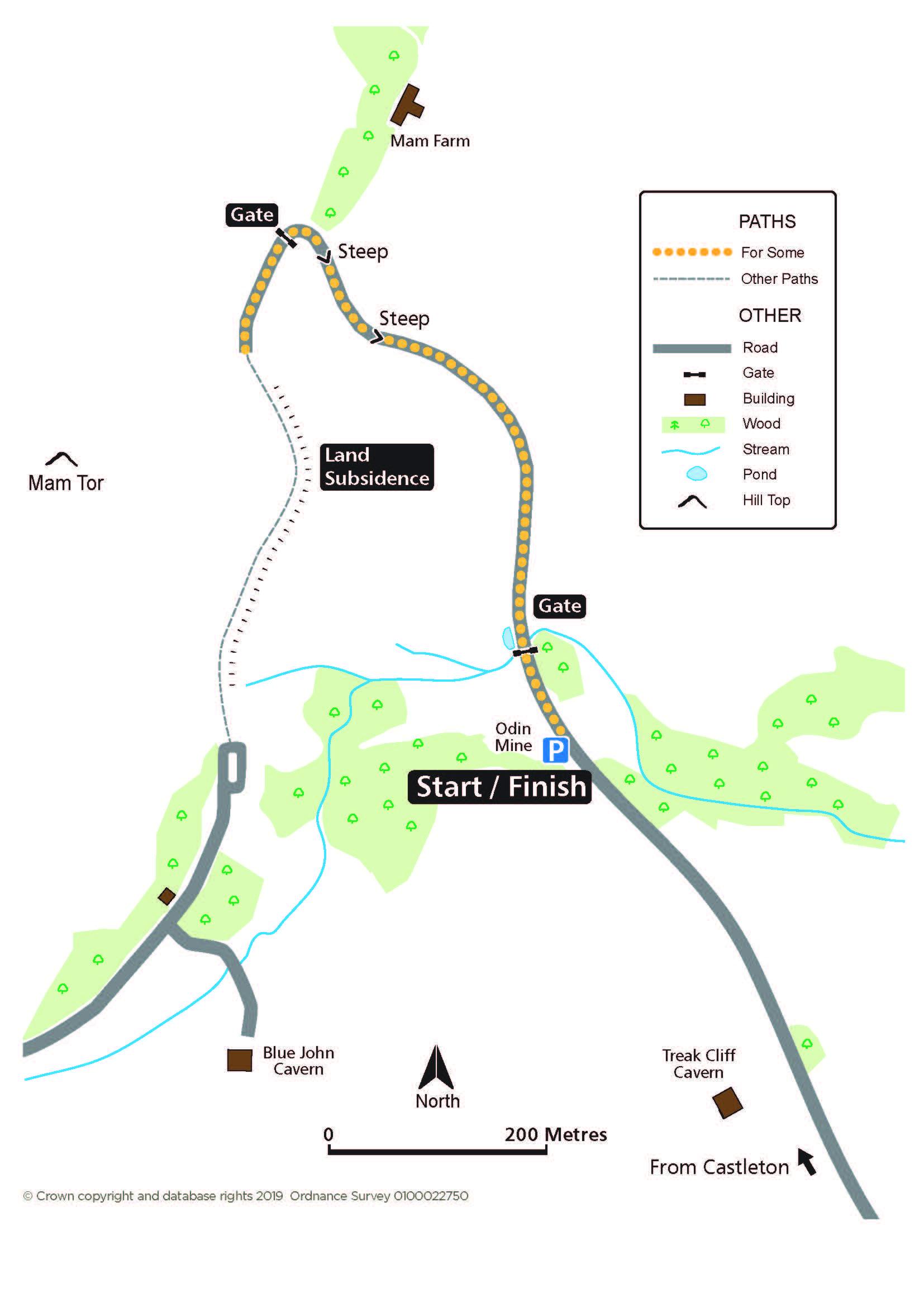 Mam Tor Landslip route