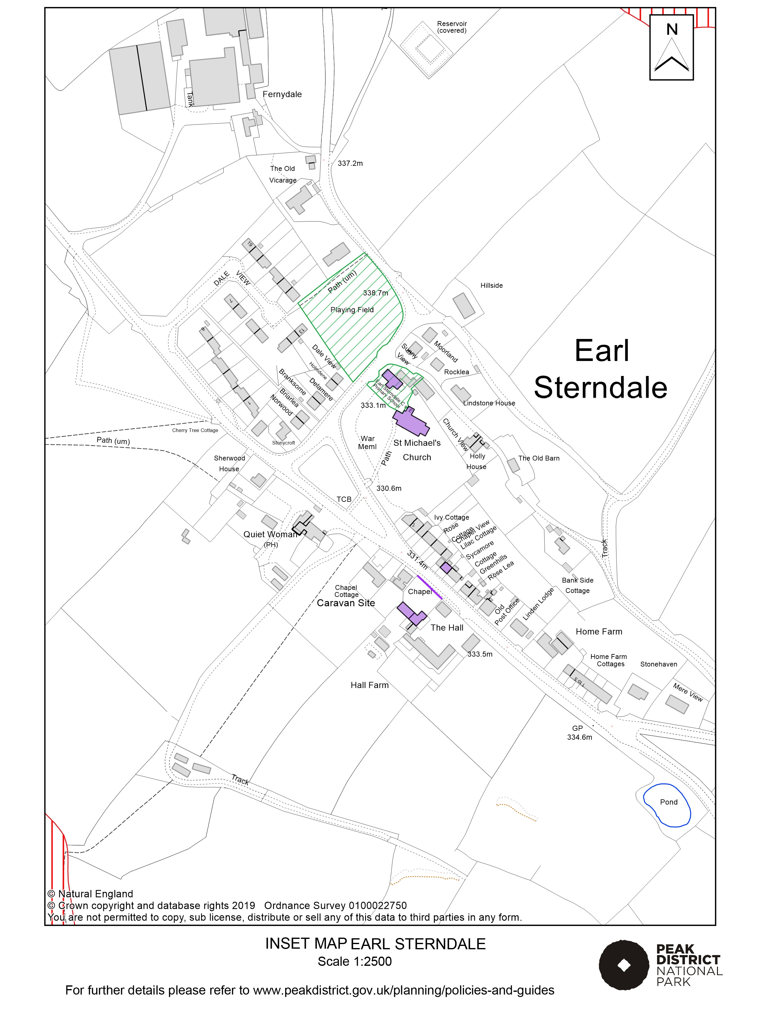 Local Plan Proposals Map: Earl Sterndale