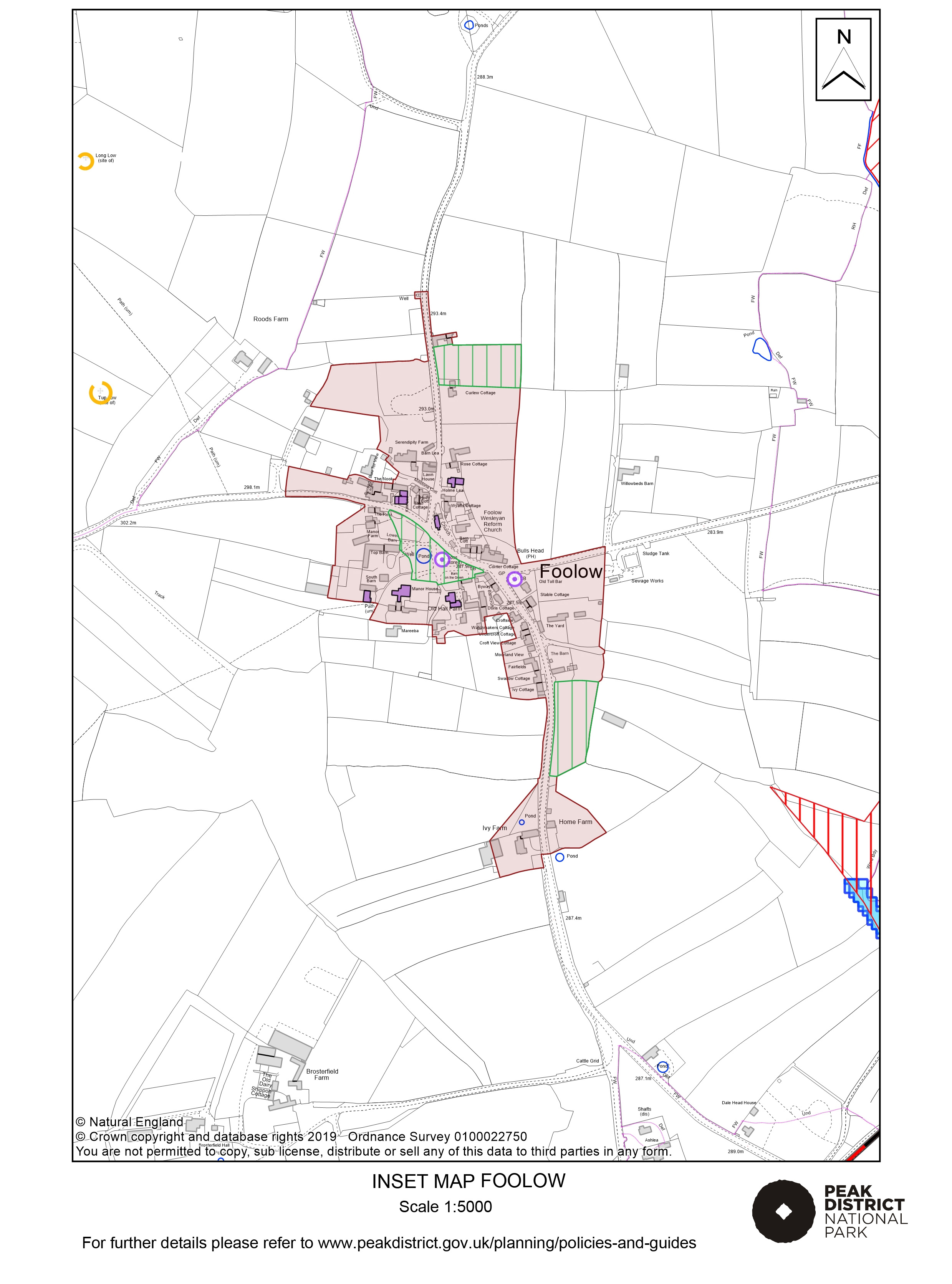 Local Plan Proposals Map: Foolow