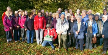 Peak Park Leisure Walkers celebrate their 20th anniversary with a cake