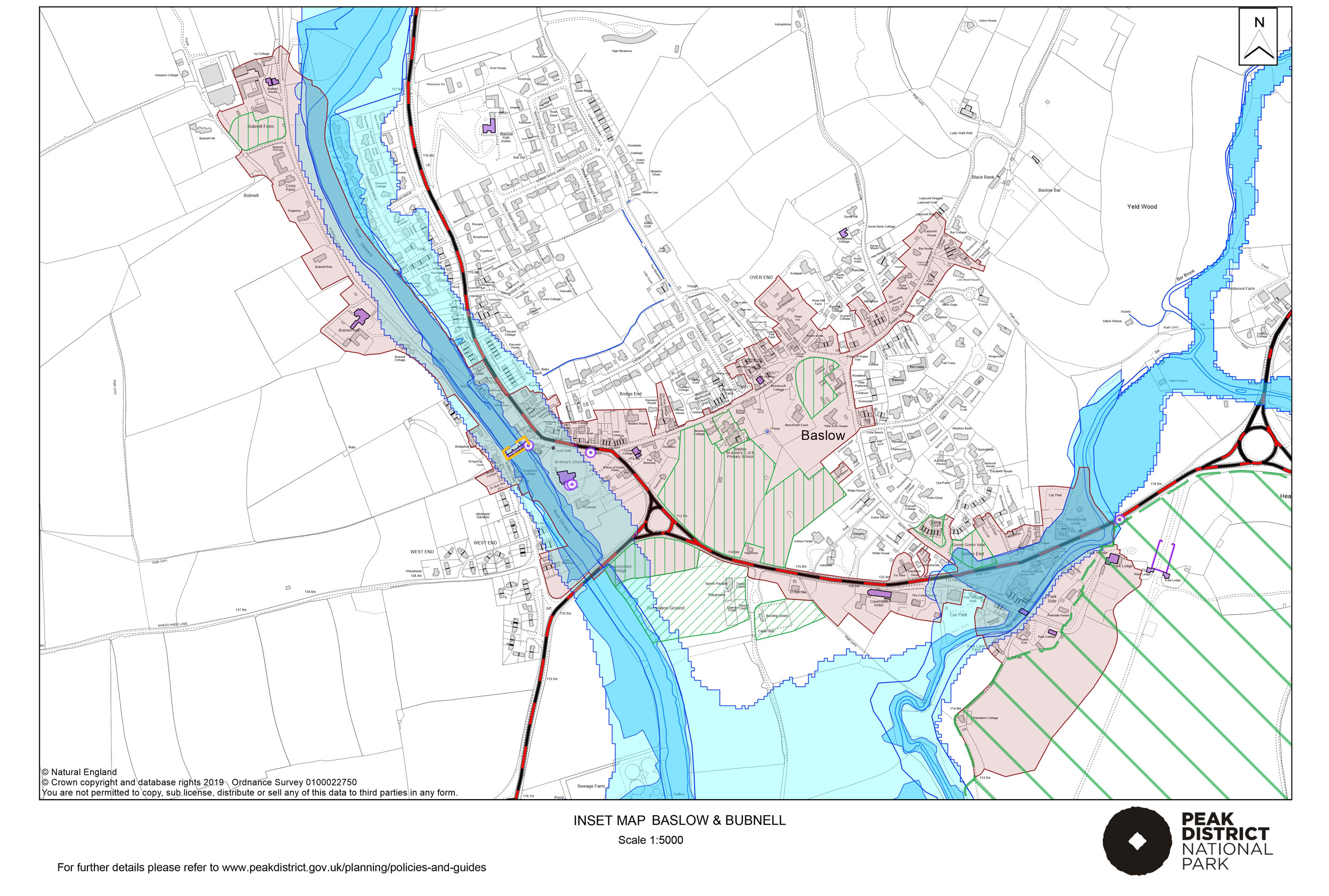 Local Plan Proposals Map: Baslow and Bubnell