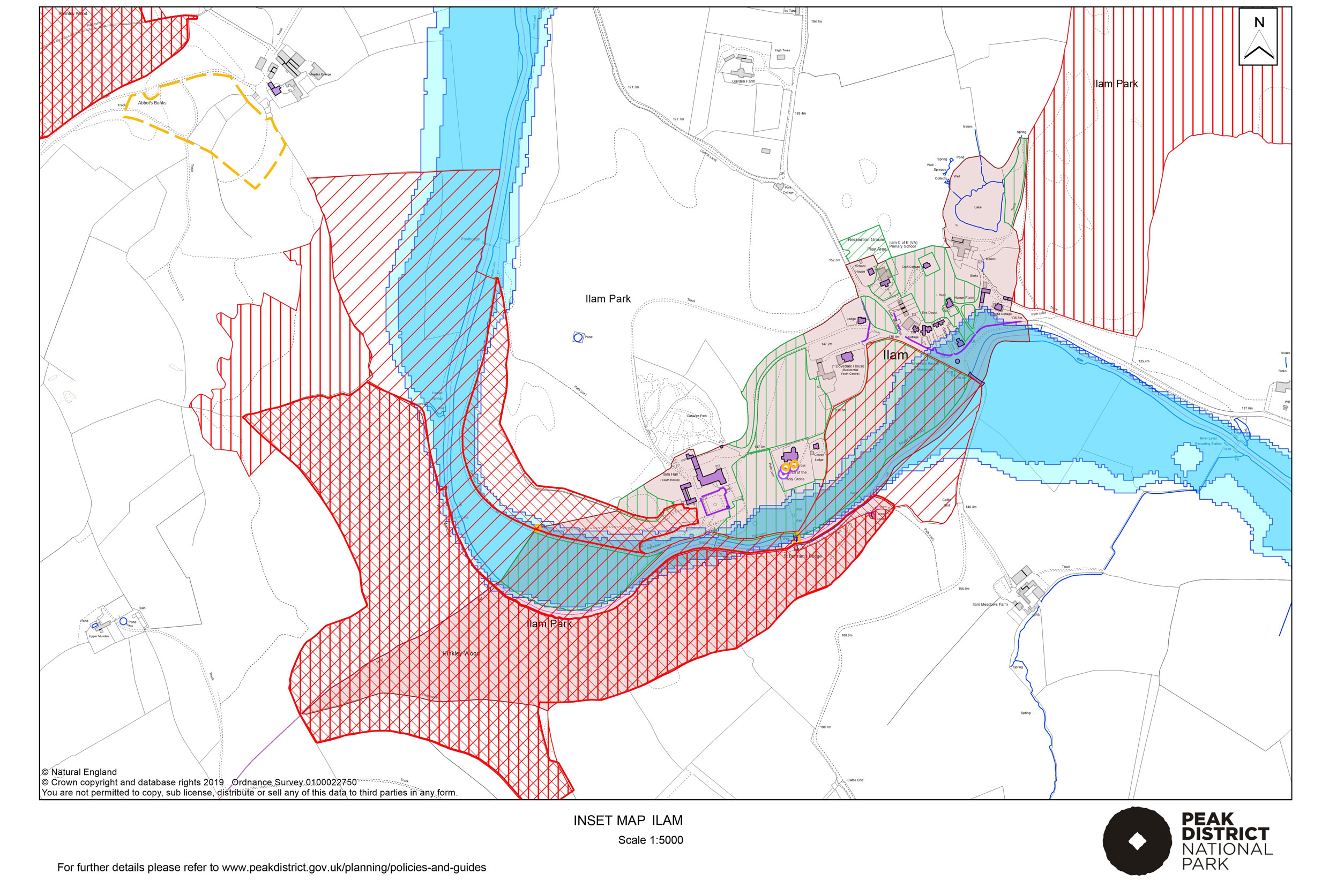 Local Plan Proposals Map: Ilam