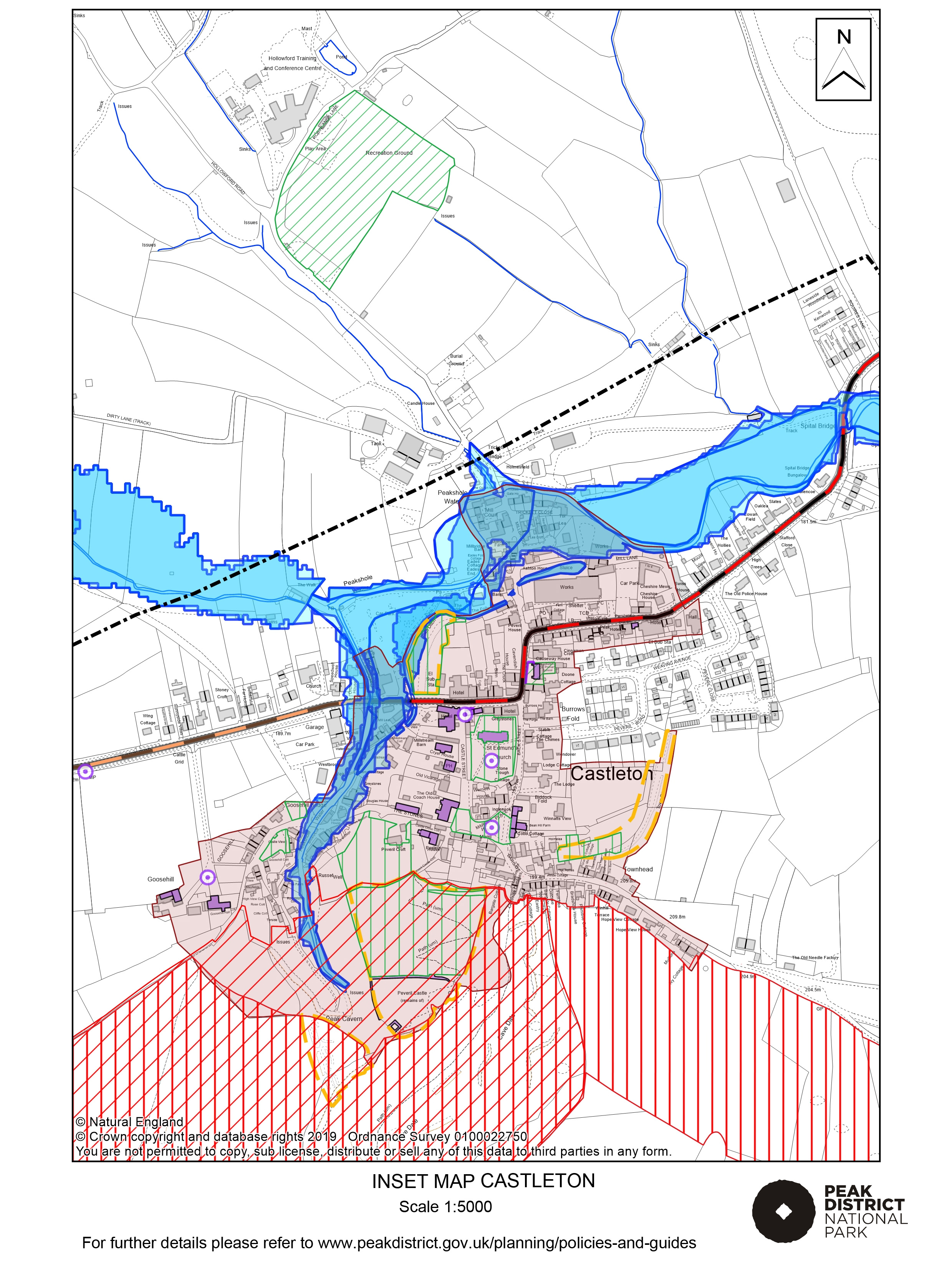 Local Plan Proposals Map: Castleton