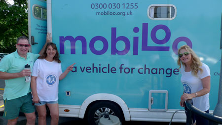 Gillian and Jane promoting Mobiloo as part of Changing Places