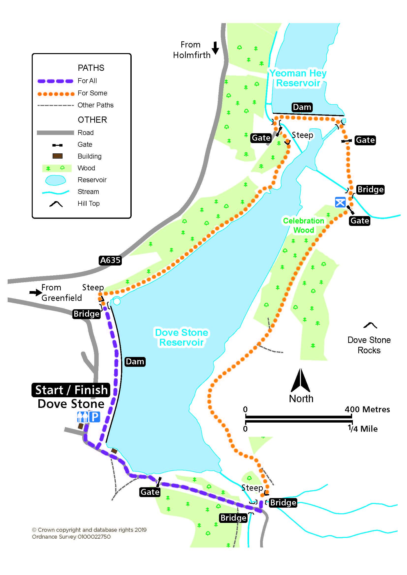 Dove Stone route