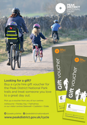 Cycle hire gift vouchers are available