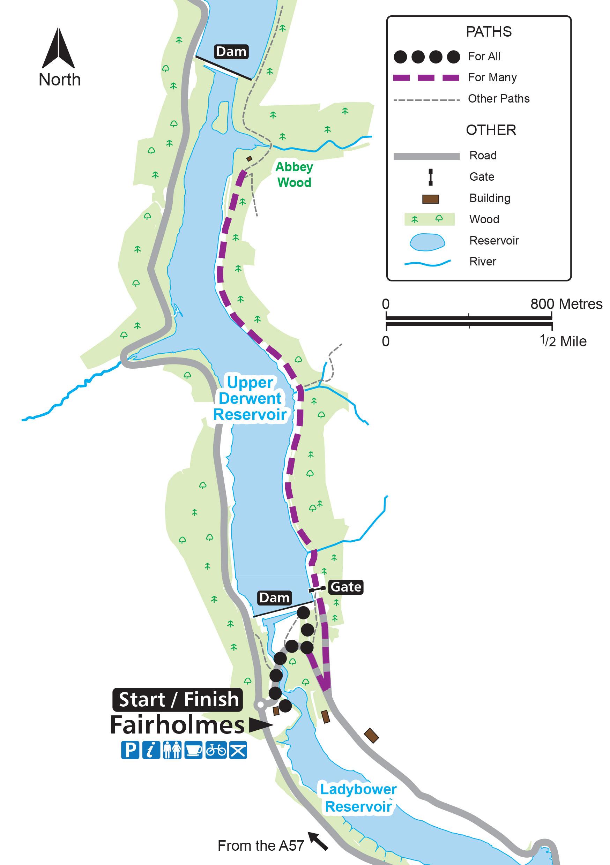 Derwent Dam routemap