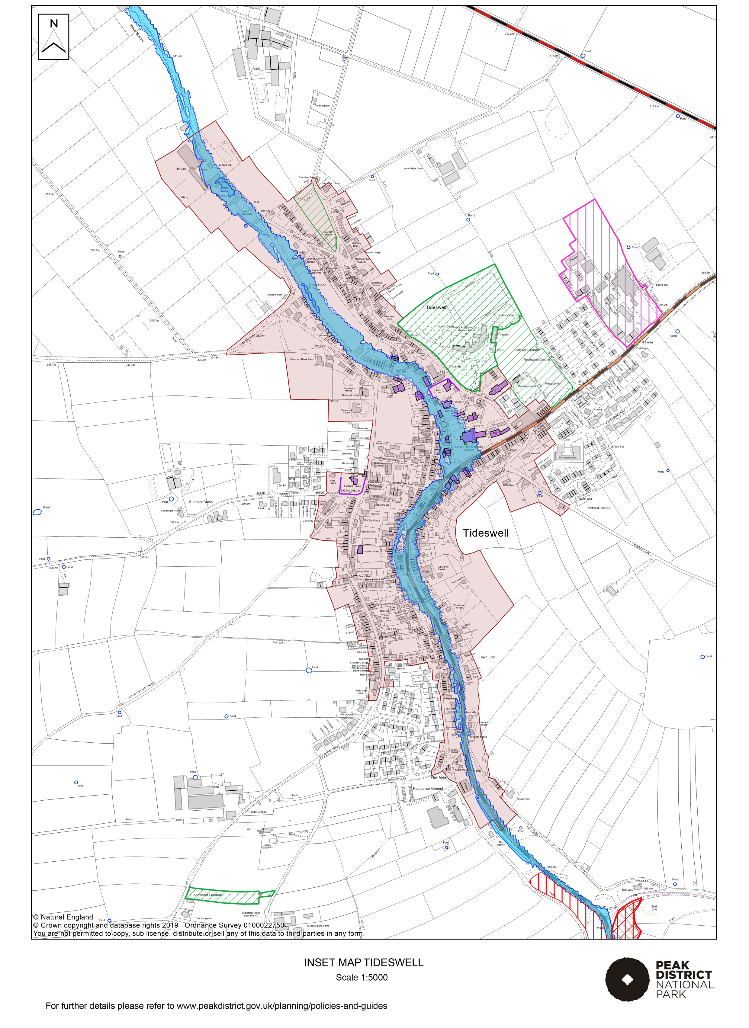 Local Plan Proposals Map: Tideswell