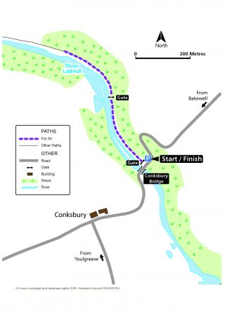 Miles without Stiles route for Conksbury