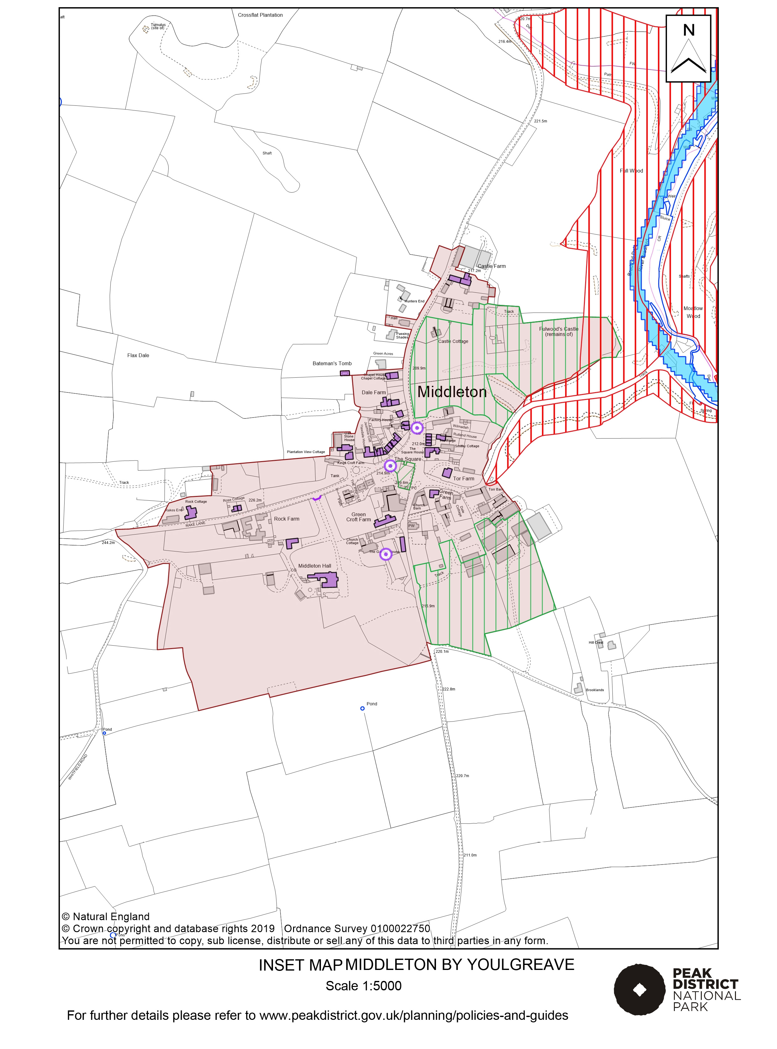 Local Plan Proposals Map: Middleton by Youlgreave