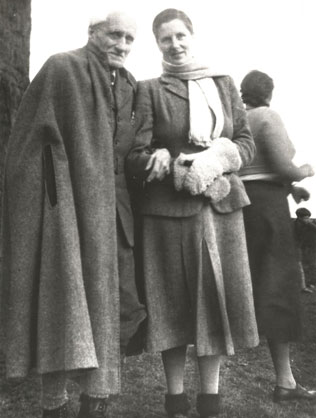 Pauline Dower Deputy Chair of the National Parks Commission and her father Sir Charles Trevelyan