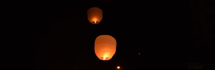 Sky lanterns (aka Chinese lanterns)