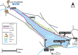 Map of Damflask Miles Without Stiles route