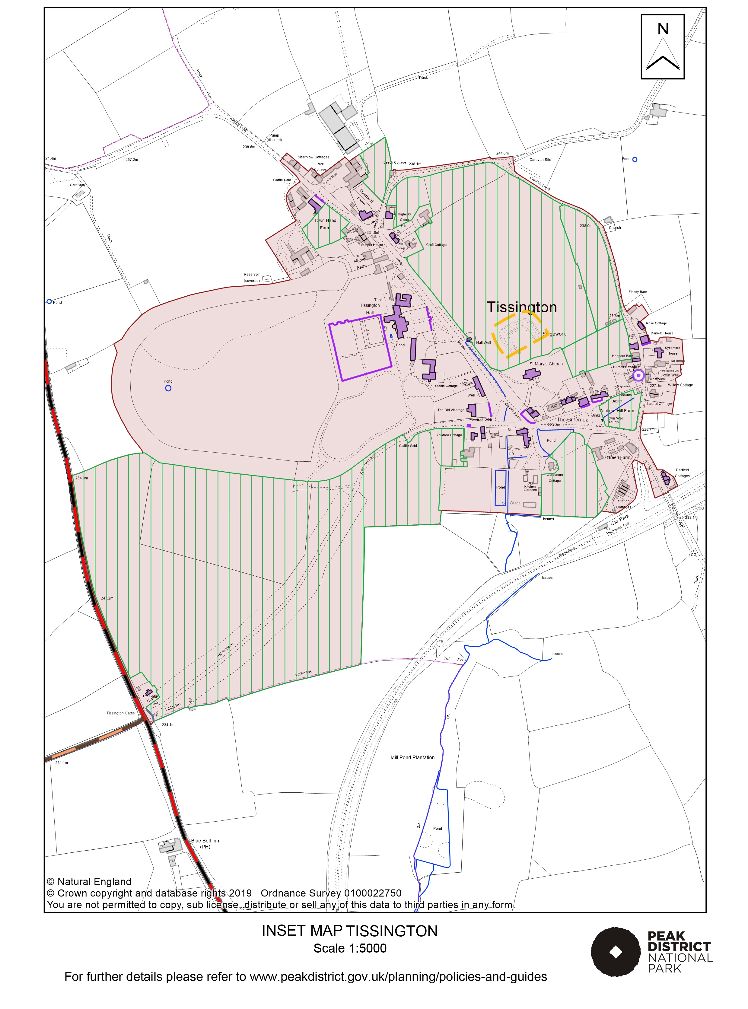 Local Plan Proposals Map: Tissington