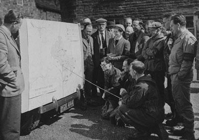 John Foster (far left) in the early 1950s