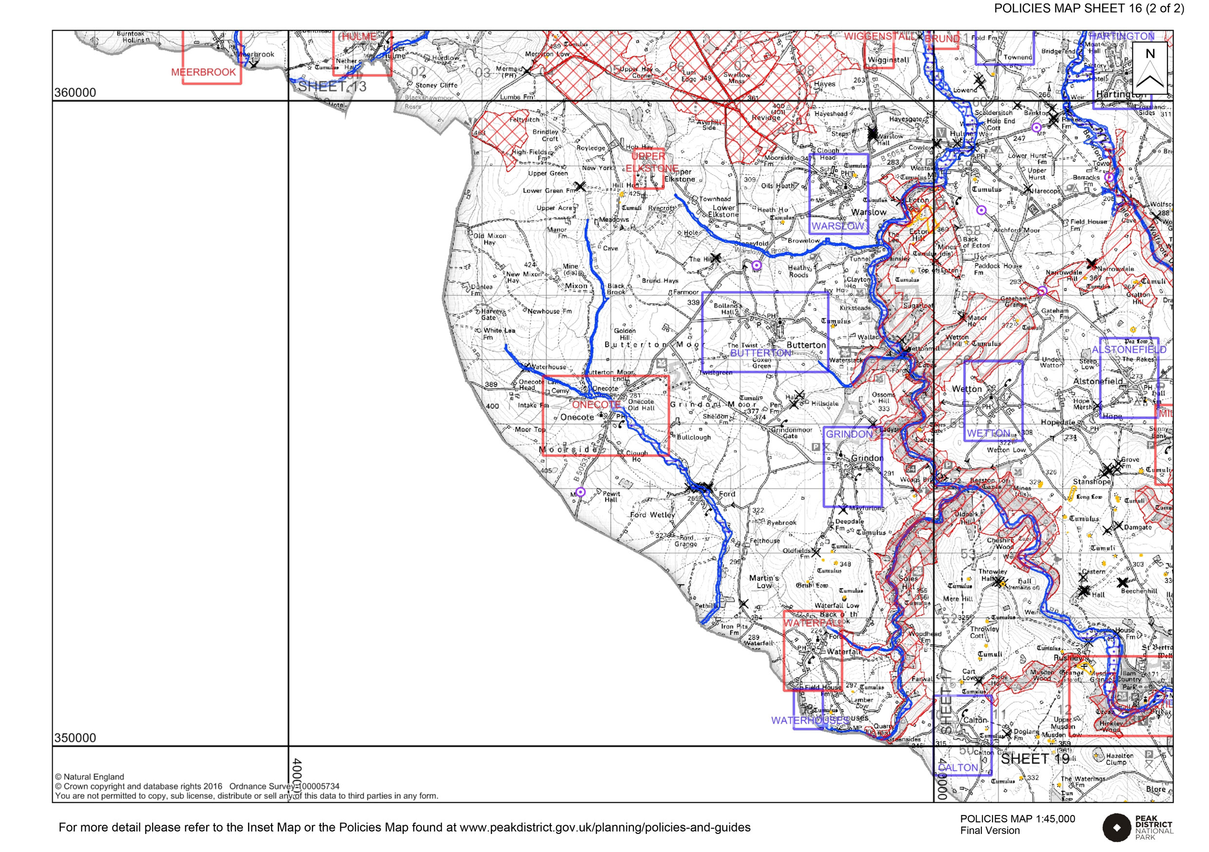 Local Plan Proposals Map 16 - other designations and constraints