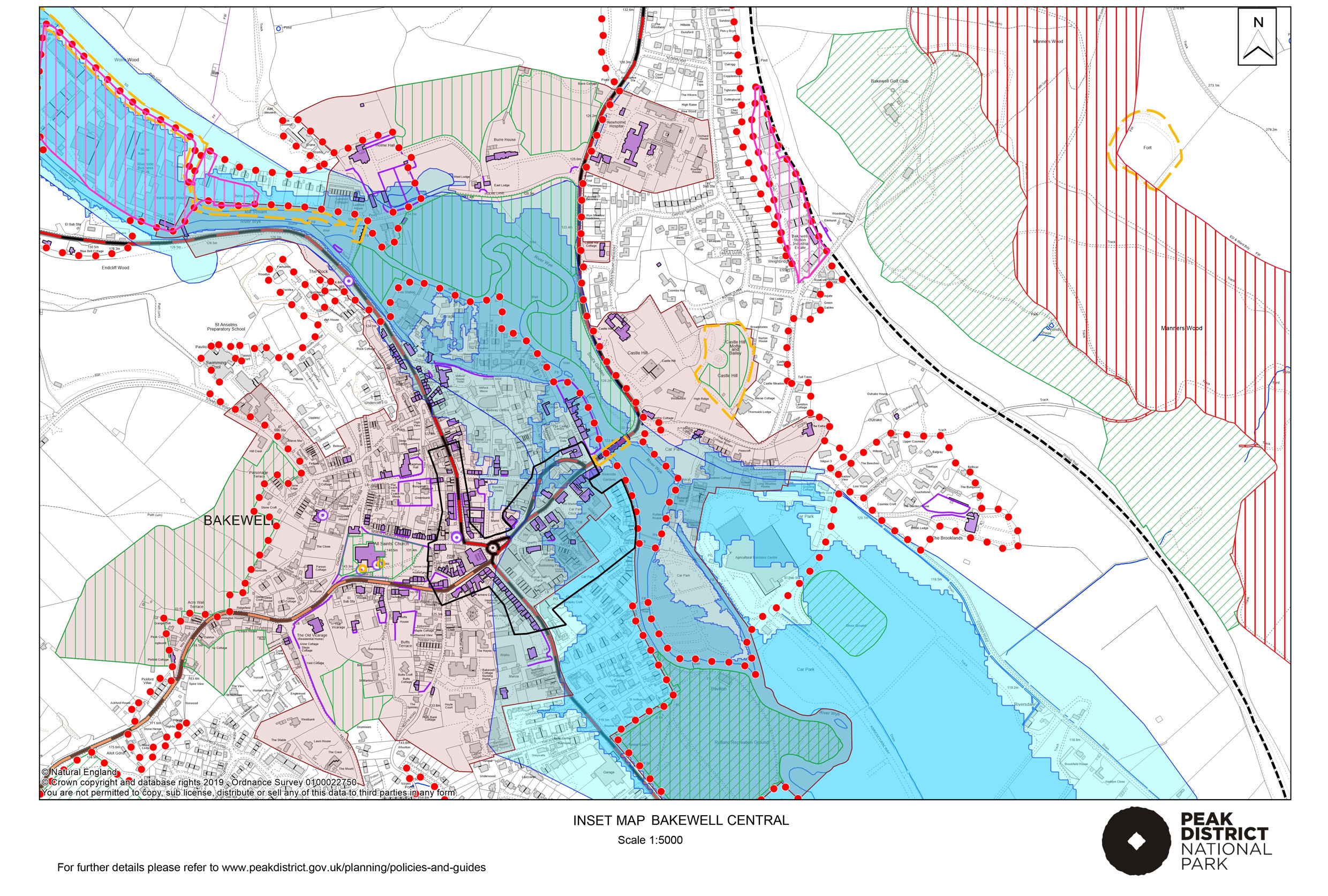 Local Plan Proposals Map: Bakewell Central