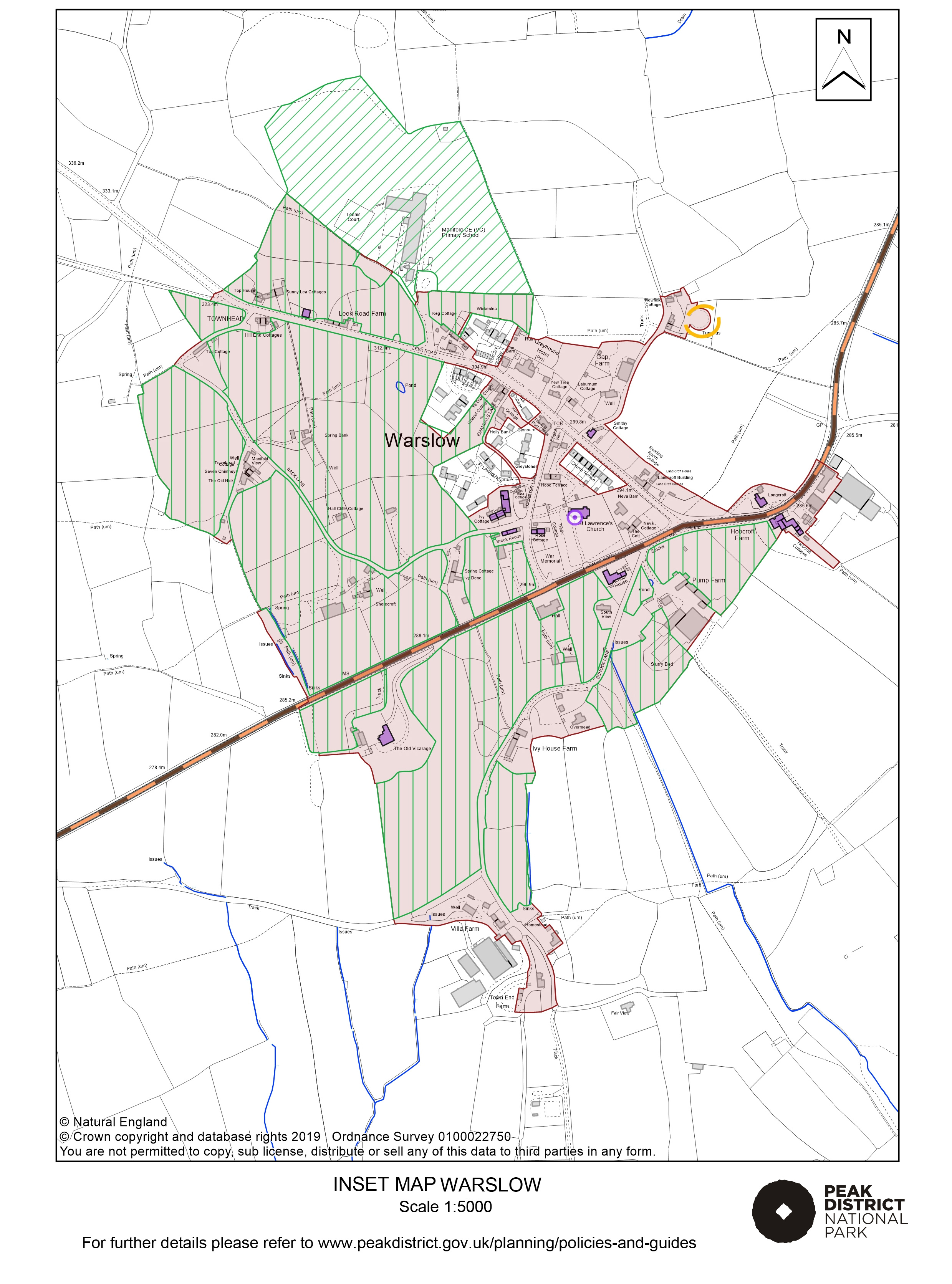 Local Plan Proposals Map: Warslow