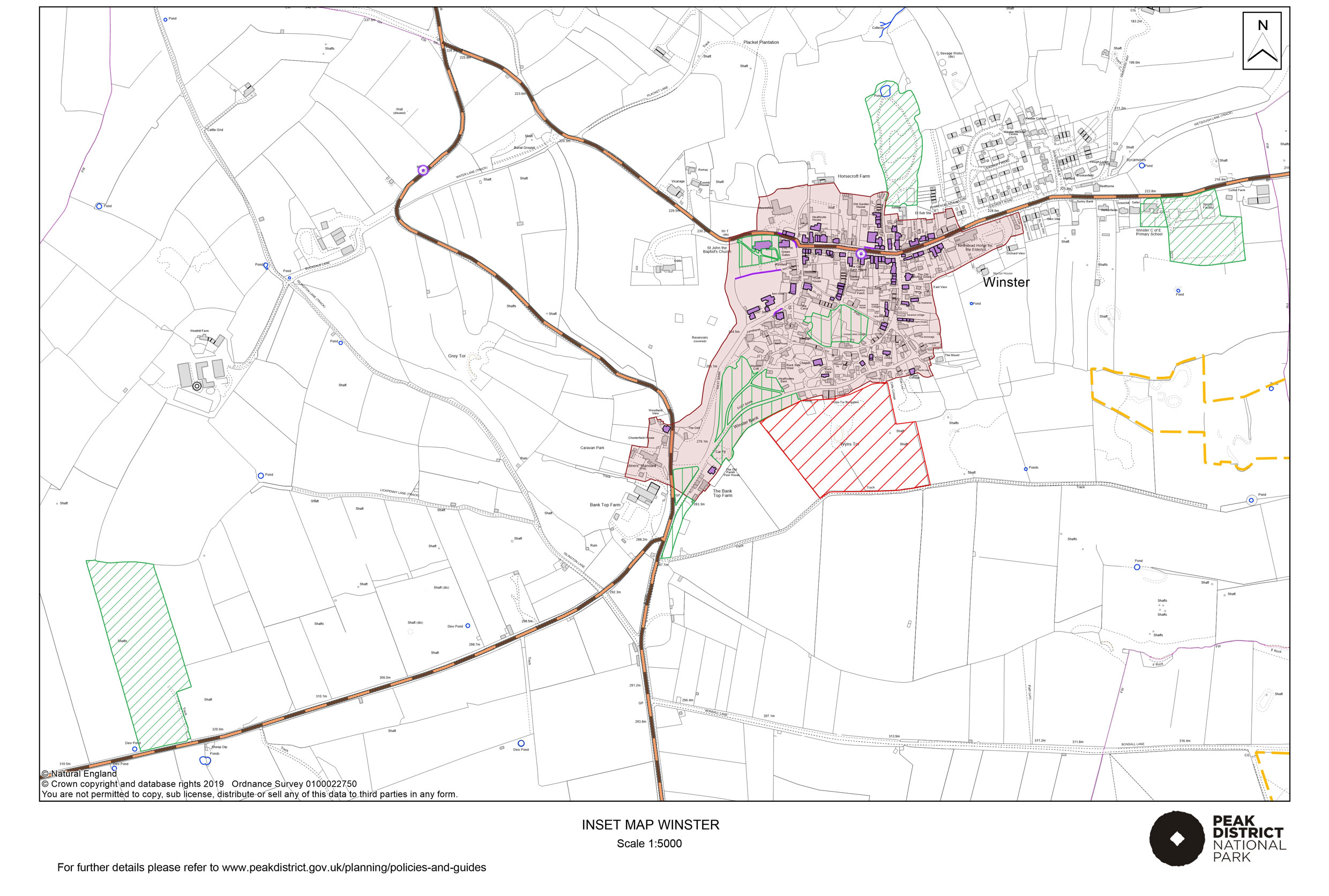 Local Plan Proposals Map: Winster