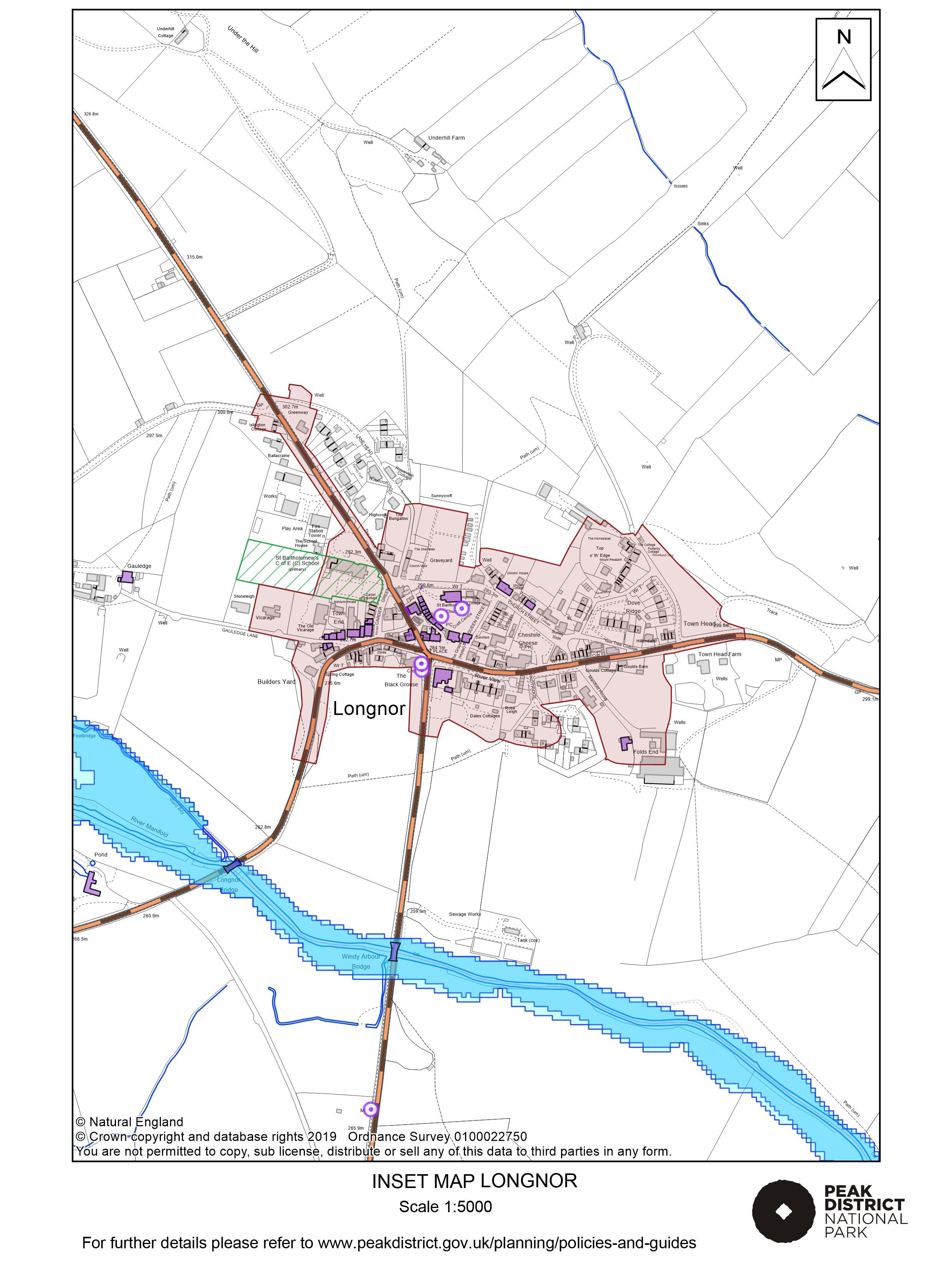 Local Plan Proposals Map: Longnor