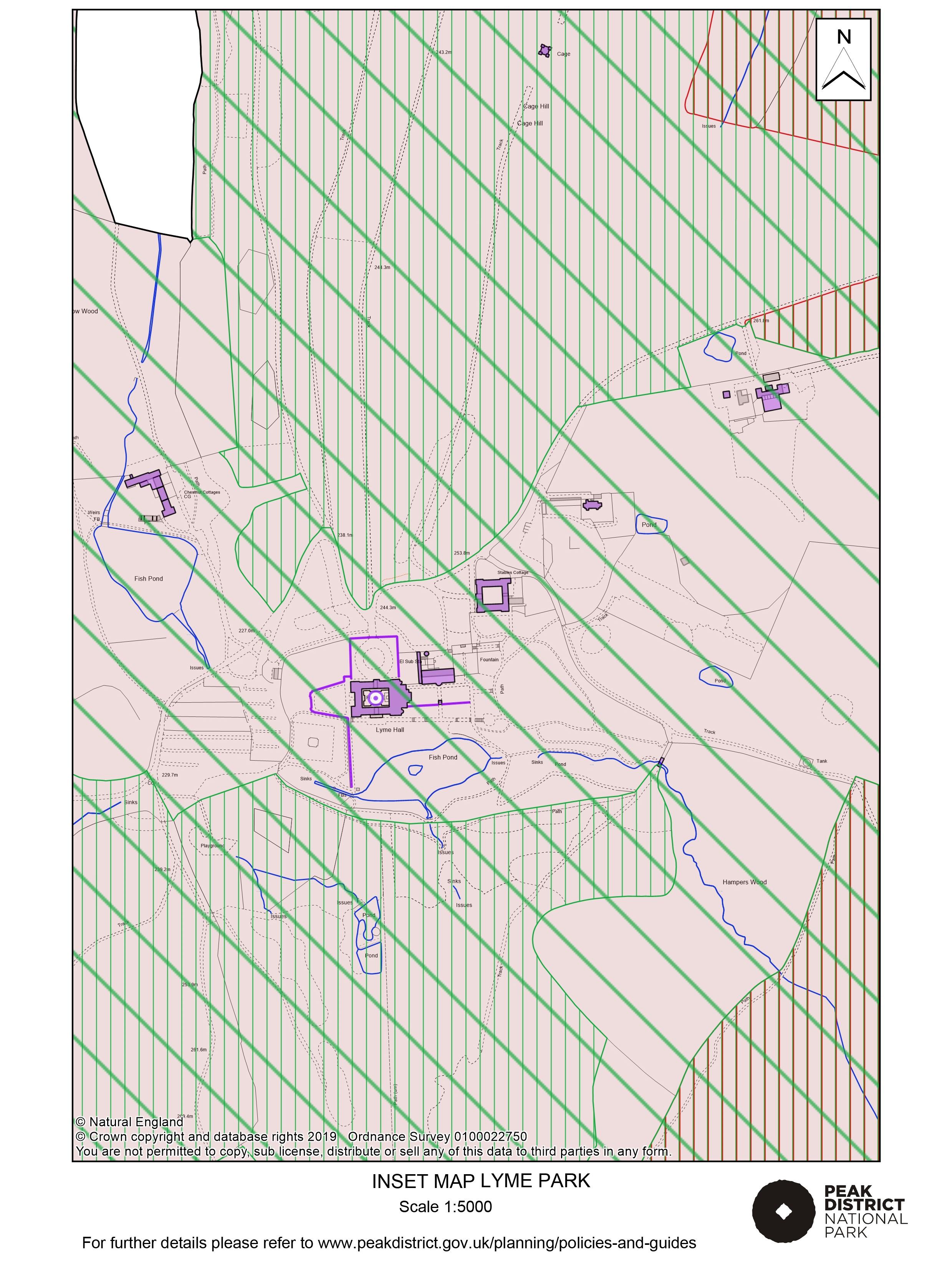 Local Plan Proposals Map: Lyme Park