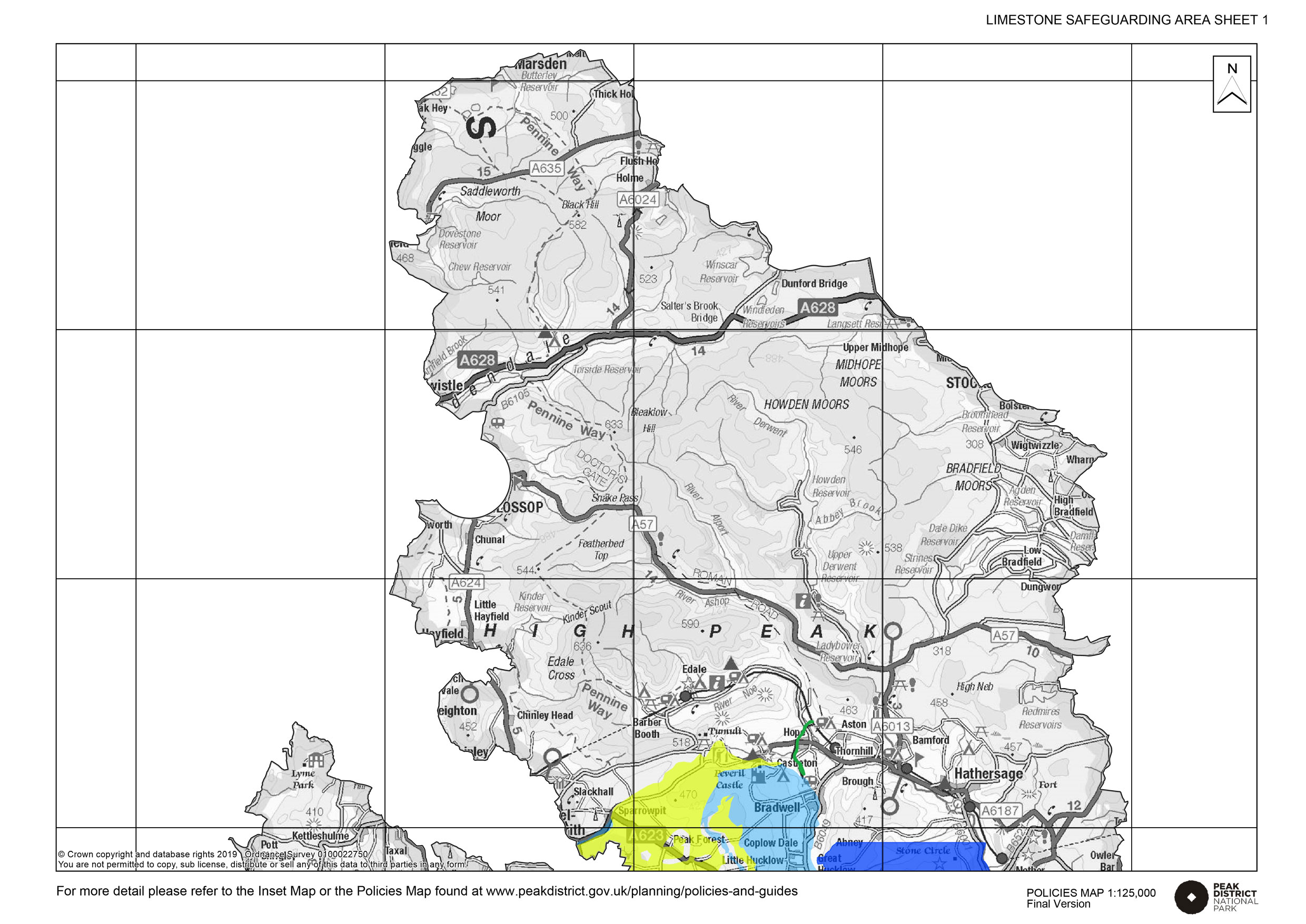 Inset map for Limestone North