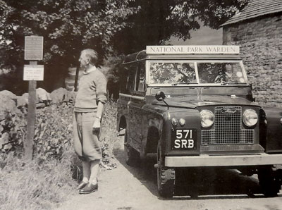Tom Tomlinson with his Landrover