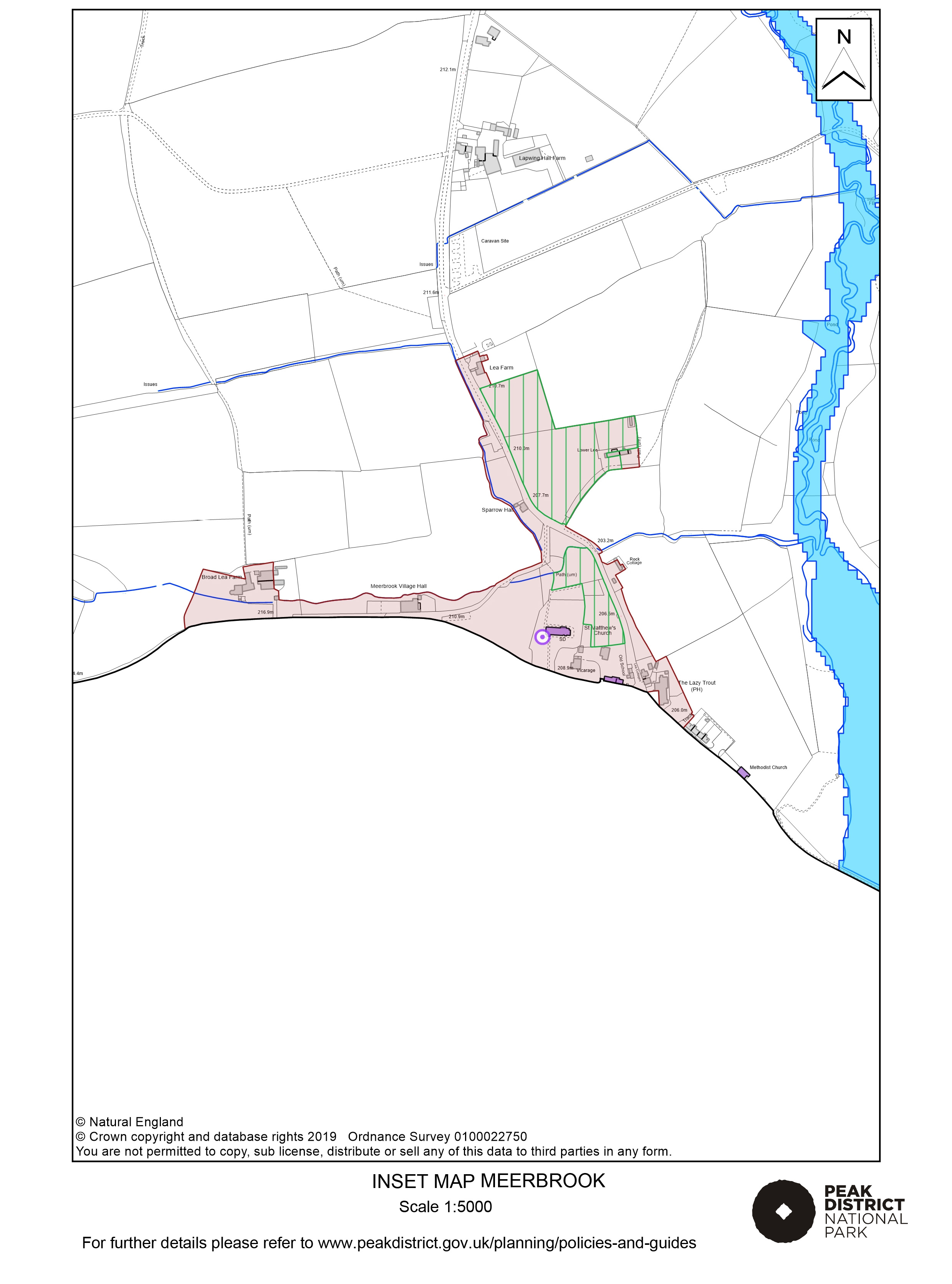 Local Plan Proposals Map: Meerbrook