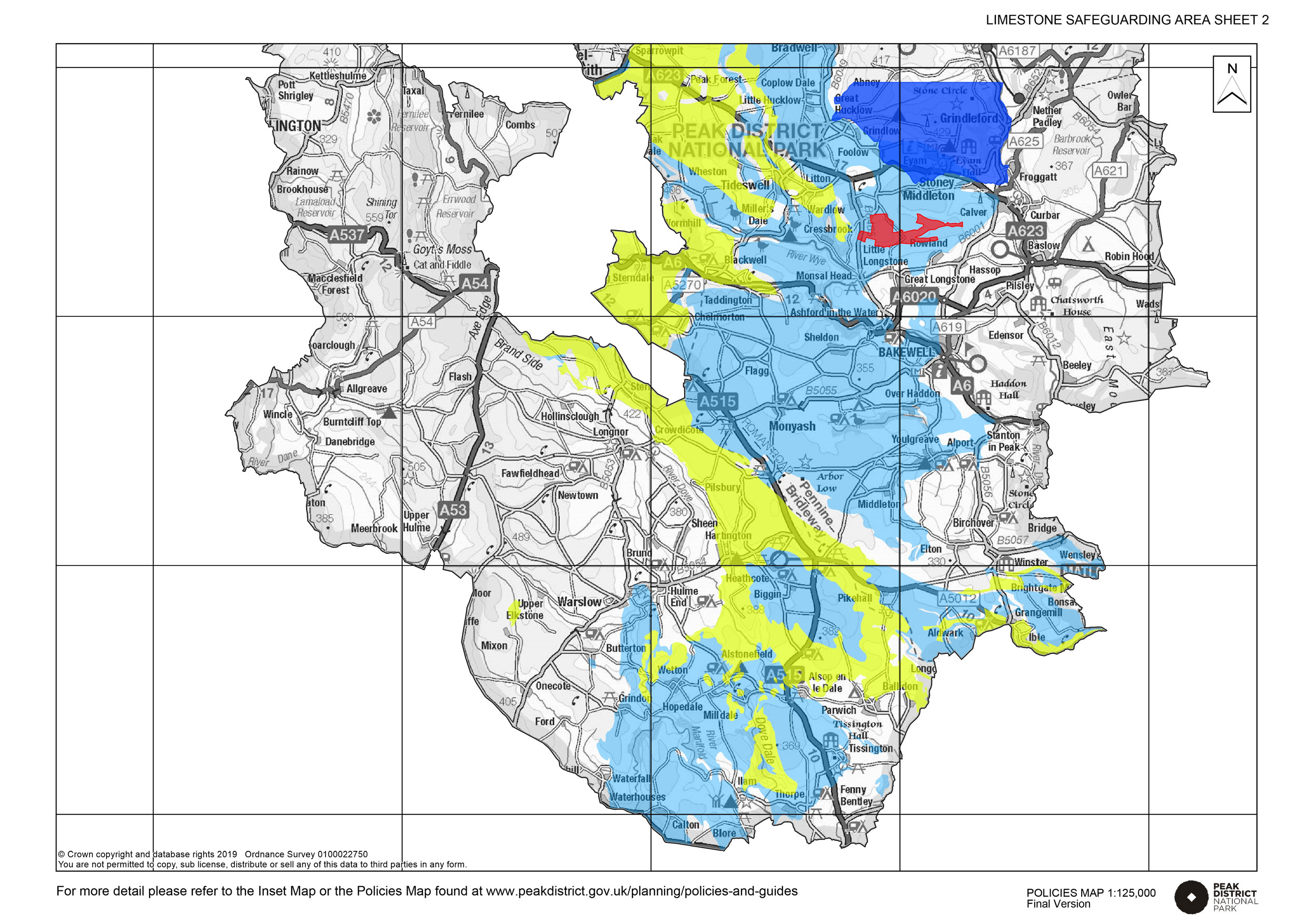 Inset map for Limestone South