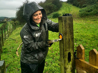 Jasmin Bishop repairing a gate